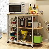 BinSanDa Home Küchenregale, Küchenregal, Mikrowellenofen, Mehrlagig, Multifunktions-Ablage, Bodenständer, Sideboard, rot, D