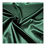 Stoff am Stück Stoff Polyester Satin dunkelgrün leicht