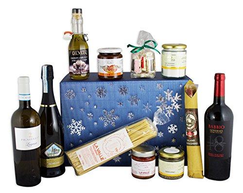 Gourmet Geschenkset Winter deluxe mit bester, italienischer Feinkost in edlem Geschenkkarton