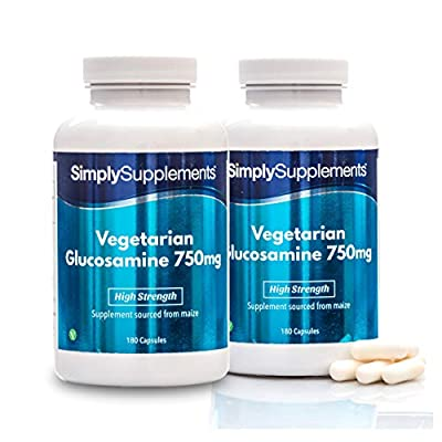 SimplySupplements Vegetarian Glucosamine 750mg |Source from MAIZE|360 Capsules in total