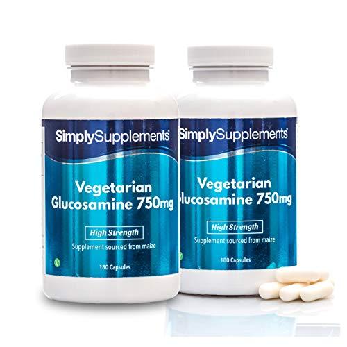 Glucosamina vegetariana 750 mg - 360 capsule - 1 anno di trattamento -Simply Supplements