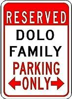 家の装飾の装飾、Dolo家族用駐車場-キッチンストアランチヤードアイロンポスター絵画ティンサインヴィンテージ壁の装飾カフェバーパブ