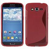 VCOMP Cover Custodia Flessibile Silicone Gel Motivo S-LINE per Samsung Galaxy Esprimere 2 II SM-G3815 - Rosso