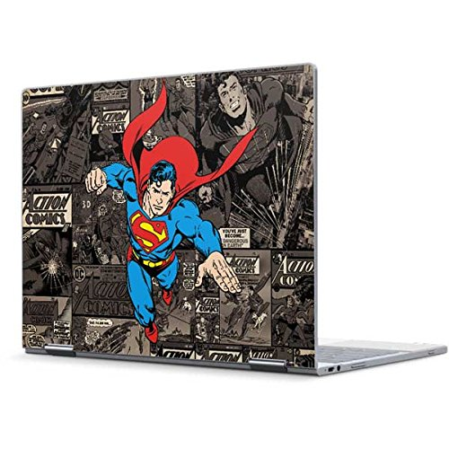 Skinit Decal Laptop Skin for Pixelbook - Officially Licensed Warner Bros Superman Mixed Media Design