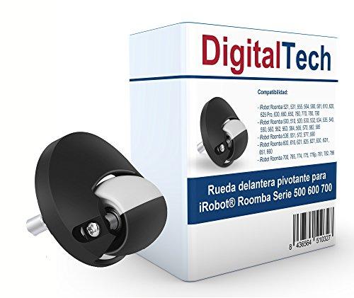 DigitalTech® - Rueda Delantera pivotante Compatible para iRobot Roomba Serie 500 600 700
