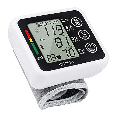 Handgelenk Blutdruckmessgerät Automatische Puls und Herzschlag Monitore mit Digital LCD Display für Zuhause, 2Benutzer Modus