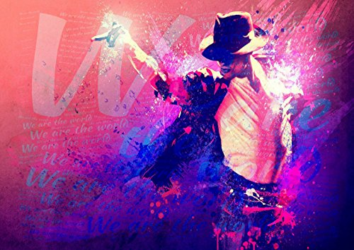 Michael Jackson nous sommes le monde 4 – Pop Star Legend Superstar King Best couleur unique Imprimé photo A3 Poster mural laminé
