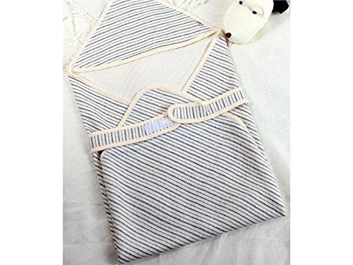 Cadeau bébé chaud nouveau-né doux mince Swaddle Sac de couchage à rayures Climatisation Couverture pour 0–3 mois