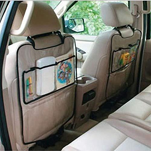 Auto Organisateurs de Voiture Protecteur Couverture de protection de dossier de siège de voiture auto organisateur pour enfants Step Mat sac de rangement Navire, Noir