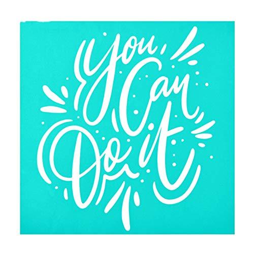 Pantalla de seda autoadhesiva Pantalla de seda Stencil Pattern Pattern Plantillas para pintar en la tela de madera Camiseta de pared y decoraciones para el hogar - Dream & Feliz & Love & Hope Decorati
