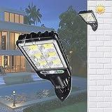 Yirunfa 3W LED Solar Wandleuchte mit Bewegungsmelder IP65 wasserdichte 120° Superhelle Solar...