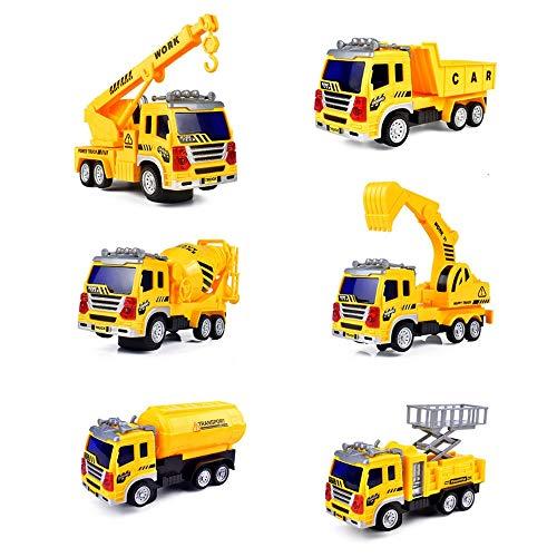 ALYHYB 6 PCS Vehículo de construcción, Conjunto de Cajas de Juguetes de...
