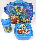 TDL Dragon Ball Z Ensemble-Cadeau Sac Isotherme + Bidon + Boîte À Déjeuner - Licence Officielle - Lunch Bag + Sports Bottle + Sandwich Box - Gift Bundle