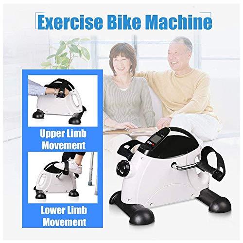 TANCEQI Magnetic Mini Trainingsrad Beintrainer Trainingscomputer, Leises Magnetbremssystem, Heimtrainer Für Senioren Für Zuhause Und Büro