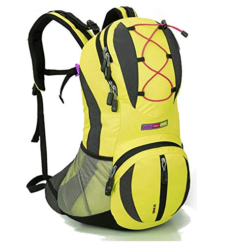 Backpack Vélo Sac À Dos Riding Daypack Respirant Léger pour Sports De Plein Air Voyager Alpinisme Hydration Eau Sac Hommes Femmes,Yellow
