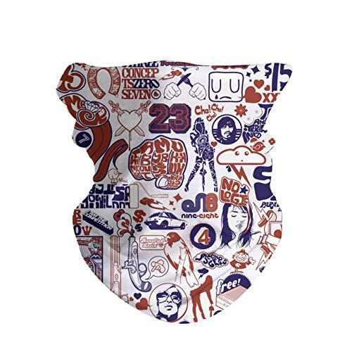 HAOZI Masque Bandana pour Le Visage, 2 pièces Masque de pêche, Foulard Magique, Masque Tube, Cache-Cou, Cagoule et Foulard de Sport Bandeau pour la pêche, la randonnée, Chaos, 50 CM x 25 CM