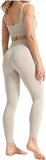 Riou-Hosen Damen Yoga Trainingsanzüge Sport Shirt Langarm Trainingshose Set Yoga Hosen Leggings Tights Shape Stretch Sporthose für Workout Gym Joggen Trainings Fitness Laufen Hosen riou Günstig