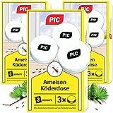 PIC - Mierenlokdoos - Mierenlokdoos voor binnen, terras, balkon en kelder - Bestrijdt het hele mierennest (9 blikjes)