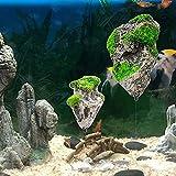 SAIO Roca Flotante suspendida de Piedra Artificial decoración de Acuario decoración del Tanque de Peces Flotante pómez Volando Roca Ornamento 9.2x5.8cm (LxW)