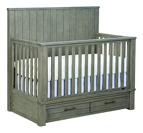 Bassett Baby & Kids Everest 4-in-1 Crib, Smokey Grey