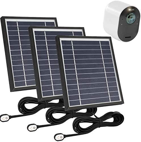 Uogw 3 Pack Solar Panel Charge for Arlo Pro 3 Arlo Ultra Ultra 2 with 11 5ft Waterproof Magnetic product image