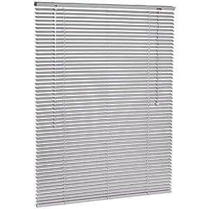 AmazonBasics - Persiana veneciana de aluminio, 100 x 130 cm, Plateado