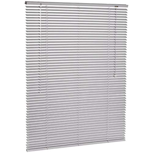 AmazonBasics - Jalousie, Aluminium, 100 x 130 cm, Silber