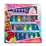 Townley Girl Disney Princess Non-Toxic Peel-Off Nail Polish Set for Girls, Glittery and Opaque Colors, Ages 3+ 15 Pack