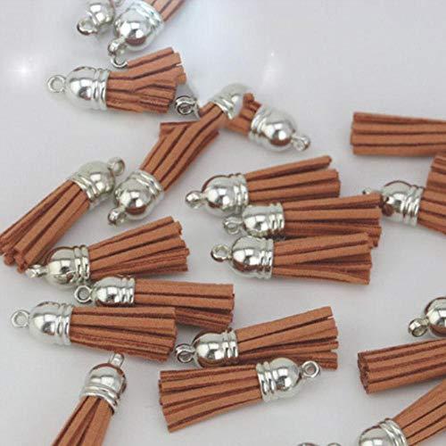 38mm Vintage lederen kwasten/sieraden accessoires/sieraden bevindingen/oorbellen accessoires groothandel, chocolade