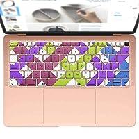 igsticker MacBook Air 13inch 2018 専用 キーボード用スキンシール キートップ ステッカー A1932 Apple マックブック エア ノートパソコン アクセサリー 保護 000489 その他 チェック カラフル