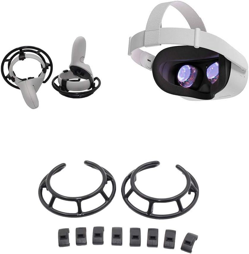 Free Size POHOVE VR Antichoc Contr/ôleur Cadre Protection Garde VR Tactile Contr/ôleur Grip Accessoires pour Oculus-Quest 2 Noir