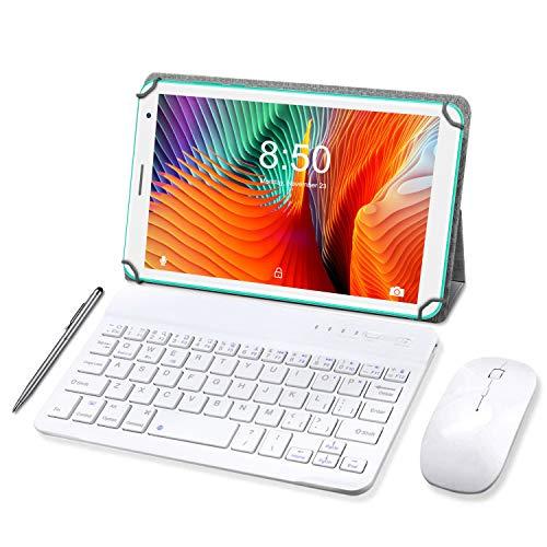 Tablet 8 Pollici con Wifi Offerte, Tablet PC Android 10.0 Memoria RAM da 3GB RAM+32GB ROM Tablet con Tastiera,Tablet Offerta Del Giorno Netflix Certificato da Google GMS- Verde