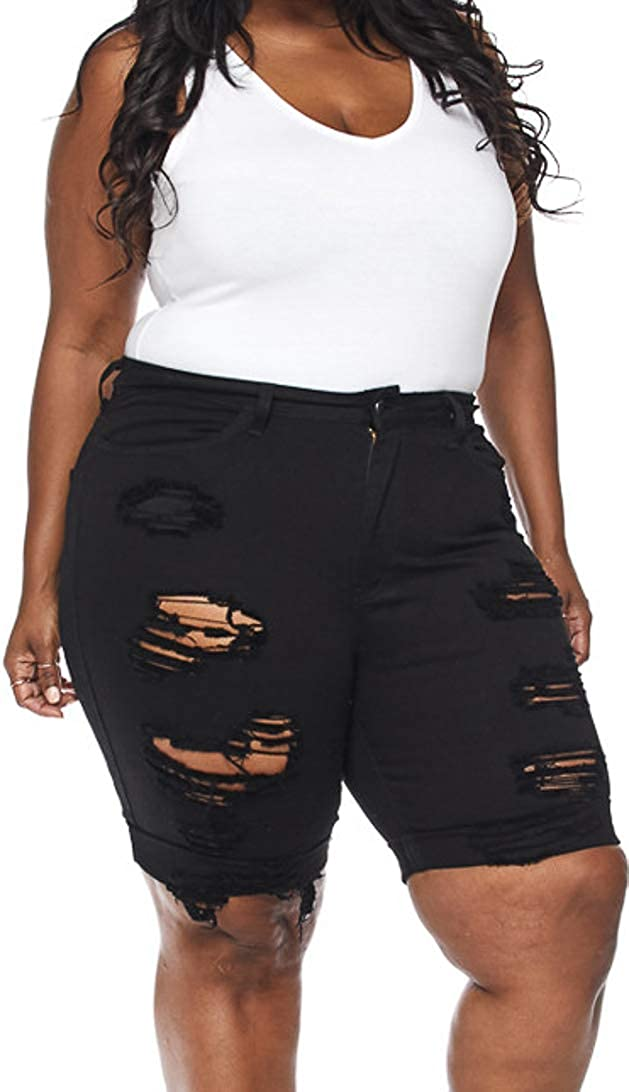 Ranking TOP8 Vibrant Women's Juniors Selling Destroyed Jeans Shorts Capri Bermuda