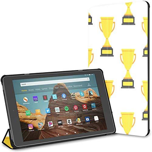 Estuche para la Tableta Honorable Large Medal Trophy Happy Fire HD 10 (9.a / 7.a generación, versión 2019/2017) Fundas y Cubiertas para Kindle Fire10 Estuche para Kindle Fire HD Auto Wake/Sleep par