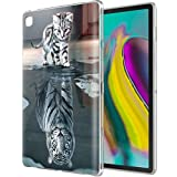 Yoedge Funda para Samsung Galaxy Tab S5E, Carcasa Silicona Gel TPU Transparente con Dibujos Diseño Case Cover Antigolpes Piel de Tableta para Samsung Tab S5E SM-T720 / SM-T725 10,5', Tigre