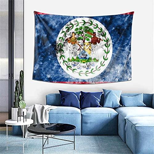 Alte Belize-Flagge, Wanddekoration, Wandteppich, exklusiver Wandbehang, Mehrzweck-Wandhintergr& Decke für Wohnzimmer, Schlafzimmer, Einheitsgröße