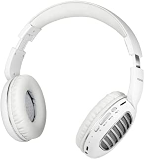 Promate Wireless Headphones, Premium Over-Ear HD Stereo Bluetooth Foldable Headphones with Built-In Mic, Passive Noise Cancellation, TF Card Slot and FM Radio for Smartphones, Tablet, Concord (Silver)