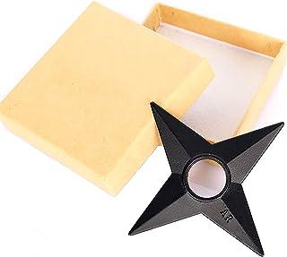 UIPFT Naruto Shuriken Throwing Stars Metal Real Size 1 Pcs Big Ninja Weapons 3 inch