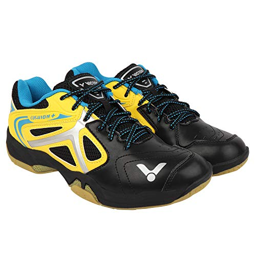 VICTOR Coushion Support Series Men's Yellow Black Mesh Professional Badminton Shoe -UK 7.5