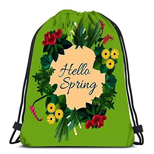 N / A Kordelzug Taschen Rucksack Zimmerpflanzen Zimmer- und Büropflanzen im Topf Dracaena Farn Bambus Spathyfyllium Orchi Travel Gym Taschen Rucksack Umhängetaschen 36 x 43 cm / 14,2 x 16,9 Zoll