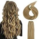 Neitsi(ネイティス) シールエクステ 人毛 エクステ ウィッグ テープエクステ エクステンション ストレートロング グラデーションウィッグ レミーヘア 髪の毛 12inch 20枚