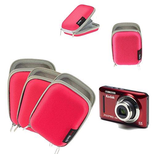 Navitech Pinke Wasser wiederständige Harte Digital Kamera Tasche für das Kodak Pixpro SP360 4K