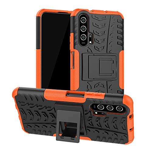 Labanema Funda para Huawei Nova 5T, [Heavy Duty] [Doble Capa] [Protección Pesada] Híbrida Resistente Case Protectora y Robusta para Huawei Nova 5T /Honor 20 /Honor 20 Pro - Naranja