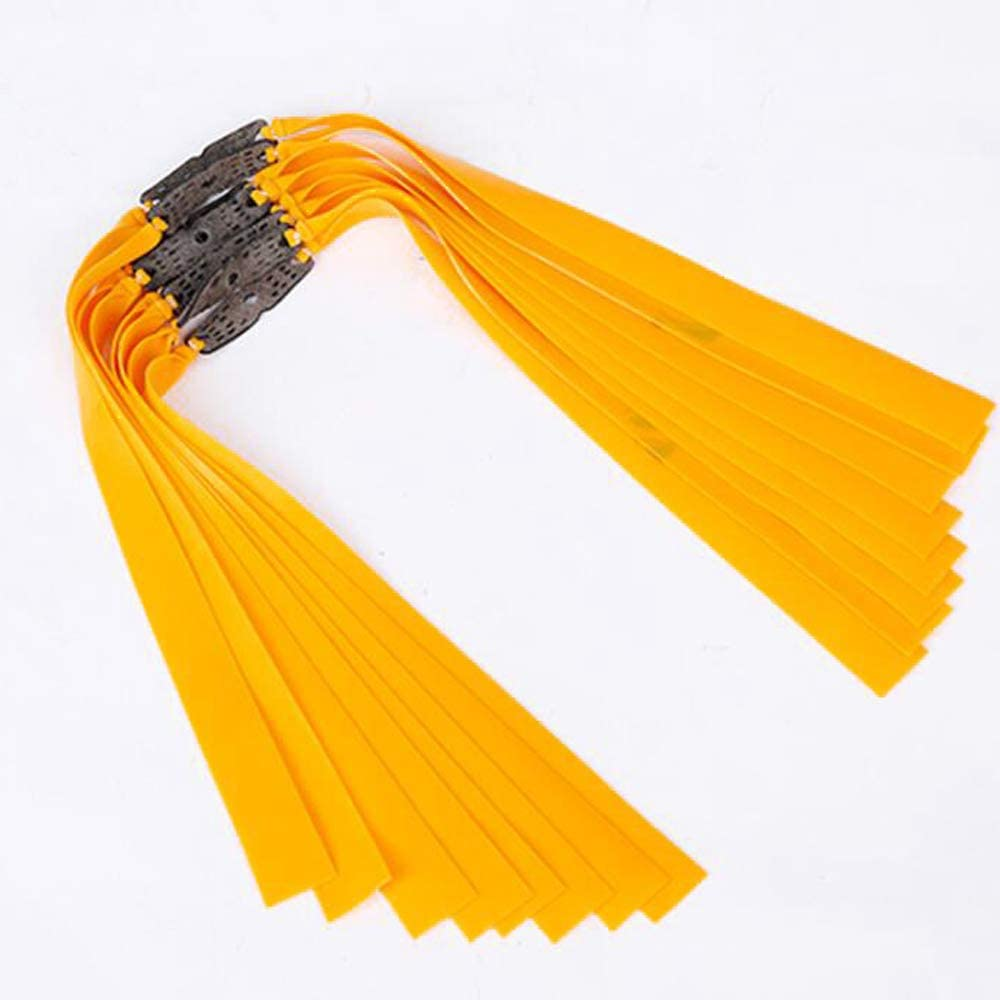 Flat Type Orange Slingshot Catapult Replacement Strong Elastic Rubber Band 20Pcs