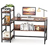 Computer Desk 55 inch with Storage Shelves Study Writing Table for Home Office,Modern...