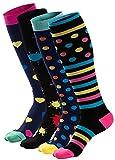 ZAKASA Compression Socks Men Women (20-30 mmHg) Athletic Fit Running Nurse Shin Splints Flight Travel Maternity Pregnancy Boost Stamina Circulation Recovery (mix50A, L/XL)