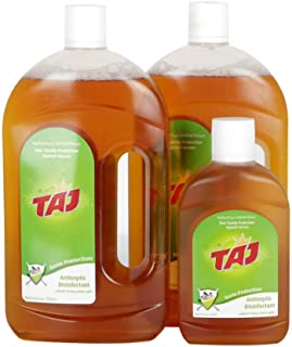 Taj Germ Protection Antiseptic Disinfectant, 2 x 750 ml & 250 ml Offer Pack of 3 PCS
