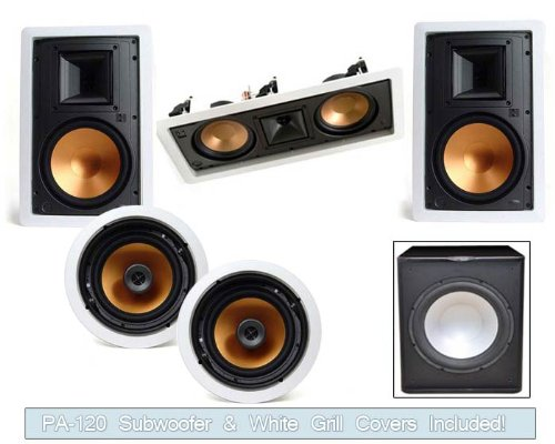 Great Deal! Klipsch R-5650-W In Wall System #2 (R-5502-W)