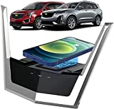 Aplicar a Cadillac XT5 2015-2021 XT6 2020-2021 del Panel Accesorios de La Consola Central del Cargador Inalámbrico para Automóvil,Cojín Carga Rápida del Cargador del Teléfono de 15W Qi con QC3.0 USB