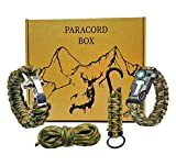 Pulsera supervivencia paracord 550 kit de supervivencia accesorios | Survival kit supervivencia cuerda paracord pulsera montaña | Pulsera paracord ferrocerio pedernal supervivencia regalo BUSHCRAFT
